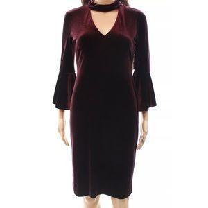 Eliza J velvet choker dress
